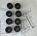 REAR DAMPER BUSHES x8 (Triumph Herald & Vitesse) (1959- 71)