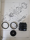 BRAKE SERVO REPAIR SEALS KIT (Ford Escort Mk2)