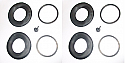 REAR BRAKE CALIPER REPAIR SEALS KITS x2 (Daimler 420) (1966- 68)