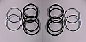 FRONT BRAKE CALIPER REPAIR SEALS KITS x2 (Reliant Scimitar) (** From 1976- 86 **)