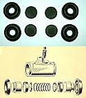 FRONT BRAKE WHEEL CYLINDER SEALS REPAIR KIT x2 (MG YA Saloon) (** 1947- 51 Only **)