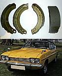REAR BRAKE SHOES SET (Ford Capri Mk1) (2600, 3000 & 3.1RS) (1969- 74)