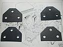 DOOR HINGE GASKETS x4 (Triumph Herald & Vitesse) (1959- 71)