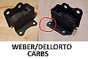 FRONT ENGINE MOUNTS x2 (Lotus Elan) (** Weber Dellorto Carbs **) (1962- 74)
