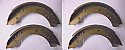 REAR BRAKE SHOES SET (Rover P4) (60, 75, 80, 80 ,100, 105r, 105s & 110) (1950- 64)