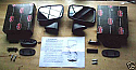 TEX BLACK DOOR MIRRORS x2 (Triumph Spitfire & GT6)