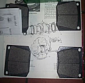FRONT BRAKE PADS SET (Triumph GT6) ( -Dec 1971)