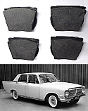 FRONT BRAKE PADS SET (Ford Zephyr & Zodiac Mk3) (1962- 66)