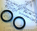 DIFFERENTIAL SIDE OUTPUT HALFSHAFT AXLE OIL SEALS x2 (Triumph TR4a, TR5 & TR6) (1965- 76)