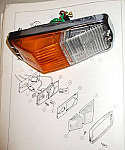 FRONT INDICATOR & SIDE LIGHT ASSEMBLY (Triumph Spitfire) (Mk3, MkIV & 1500) (From 1967- 80)