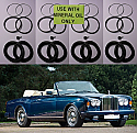 FRONT BRAKE CALIPER REPAIR SEALS KITS x2 (Rolls Royce Corniche) (** From 1979- 96 **)