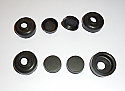 FRONT or REAR BRAKE WHEEL CYLINDER REPAIR SEALS KITS x4 (Wolseley 8) (Ser. E) (1946- 48)
