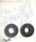 FRONT SUBFRAME (FRONT MOUNTS) x2 (Jaguar XJ6 XJ12)  (1968- 93)