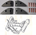 HANDBRAKE PADS (Aston Martin DB4) (** 1959- Oct 60 Only **)