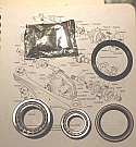 REAR WHEEL HUB BEARING KIT x1 (Triumph TR4a TR5 TR6)