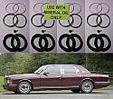 FRONT BRAKE CALIPER REPAIR SEALS KITS x2 (Bentley Eight, Continental & Brooklands) ( -1998)