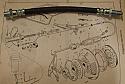 CLUTCH HOSE PIPE x1 (Hillman Imp Mk2) (Nov 68- 1976)