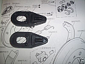 REAR BRAKE WHEEL CYLINDER GAITERS x2 (Austin / Nash Metropolitan) (** From Sep 58- 61 **)