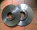 FRONT BRAKE DISCS x2 (Sunbeam Rapier) (Ser. 4 & 5) (** From 1963- 66 Only **)