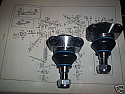 TOP BALL JOINTS x2 (Jaguar Mk1 & Mk2) (1955- 69)