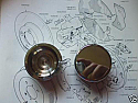 FRONT BRAKE CALIPER PISTONS x2 (** STAINLESS STEEL **) (Ford Cortina Mk2) (1300, 1500 & 1600) (1966- 70)