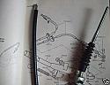 HANDBRAKE CABLE REAR x1 (Triumph TR4A TR5 TR6) (1965- 76)