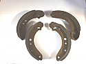 REAR BRAKE SHOES SET (Vauxhall Viva HC) (1.8 & 2.3) (1972- 79) (** LOCKHEED BRAKES **)
