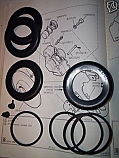 FRONT BRAKE CALIPER REPAIR SEALS KITS x2 (Ford Corsair V4) (1700, 2000 & GT) (** 16p **) (Sep 65- 70)