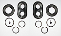 REAR BRAKE CALIPER REPAIR SEALS KITS x2 (Fiat Dino 2.0) (** 2.0 Lite Only **) (1966- 69)
