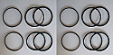 FRONT BRAKE CALIPER REPAIR SEALS KITS x2 (MGA) (Not for Twin Cam & De-Luxe)