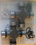 PROPSHAFT UNIVERSAL JOINTS x2 (Bedford J Type) (**** MEASURE THEM ****) (1958- 75)