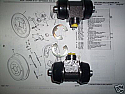 REAR BRAKE WHEEL CYLINDERS x2 (Ford Escort Mk1) (RS1600 & Mexico 1.6) (** LOCKHEED BRAKES **) (1973- 75)