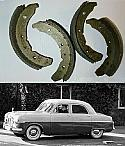 FRONT BRAKE SHOES SET (Ford Zephyr, Zodiac & Consul Mk1) (** 1951- 55 **)