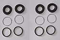 REAR BRAKE CALIPER REPAIR SEALS KITS x2 (Lancia 2000 Saloon Coupe) (Sep 1970- 76)