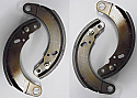 FRONT or REAR BRAKE SHOES SET (MG YA) (1947- 51 Only)