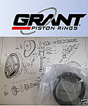 PISTON RINGS SET Std (Austin A40 Farina) (Mk1 & Early Mk2) (948cc) (**5 Ring Type**) (1958- Oct 62 Only)