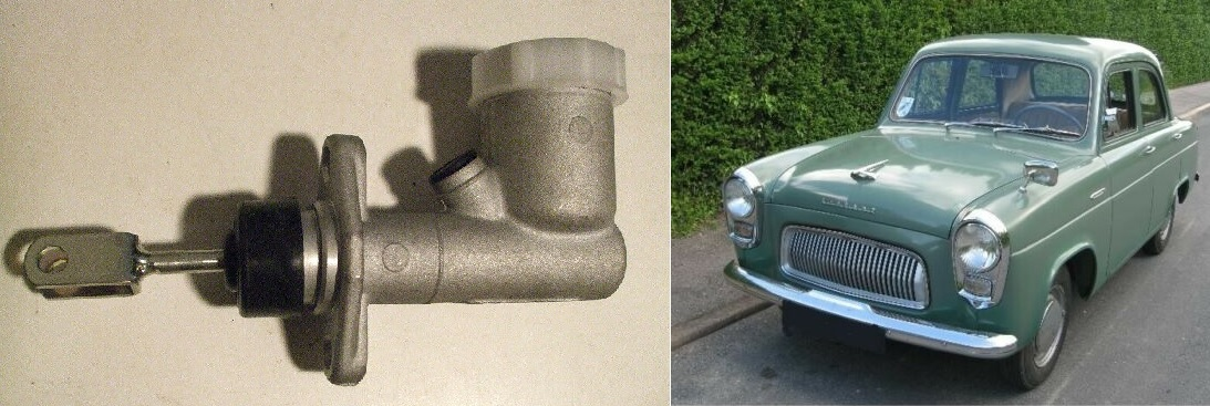 BRAKE or CLUTCH MASTER CYLINDER x1 (Ford 100e) (Anglia, Prefect & Popular) (1953- 62)