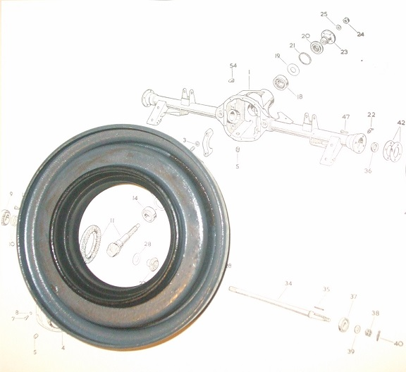 FRONT DIFFERENTIAL AXLE PINION OIL SEAL x1 (Morgan Plus 4) (1950- 61)
