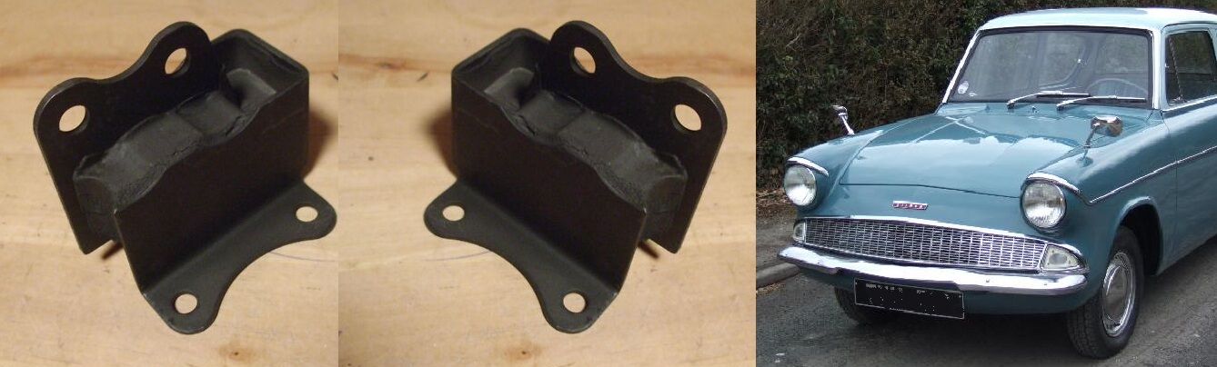 FRONT ENGINE MOUNTS x2 (Ford Anglia 105e) (1959- 68)