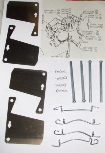 FRONT BRAKE PAD FITTING KIT - PINS & SHIMS (Morris 1800) (Mar 1972- 75)