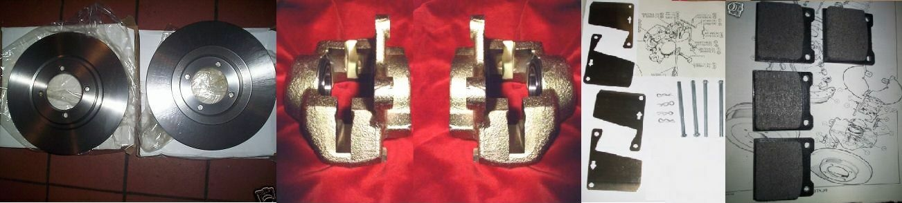FRONT BRAKE CALIPERS / DISCS / PADS & FITTING KIT (Triumph Spitfire) (From 1967- 80)