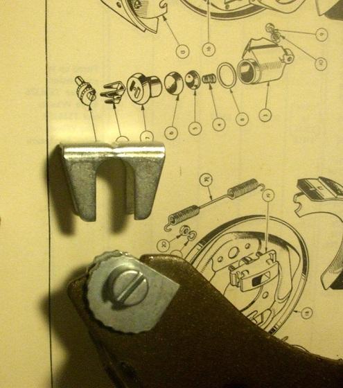 ** OBSOLETE ** REAR SMALL BRAKE ADJUSTER (Snail Cam & Mask) (FRONTor REAR) x1 (MG Midget) (1961- 64)