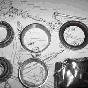 FRONT WHEEL HUB BEARING KIT x1 (Triumph Stag) (1970- 77)
