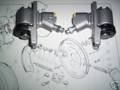 REAR BRAKE WHEEL CYLINDERS x2 (Ford Escort Mk1) (1100cc & 1300cc) (1968- 74)