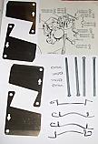FRONT BRAKE PAD FITTING KIT - PINS & SHIMS (Morgan Plus 8) (3.5 Litre) (** From 1973- 78 **)