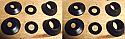 REAR BRAKE CALIPER REPAIR SEALS KITS x2 (Daimler Majestic Major) (1960- 68)
