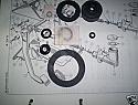 BRAKE MASTER CYLINDER REPAIR SEALS KIT (Morris Marina) (1300 & 1500) (**Front Drums**) (1971 - 78)