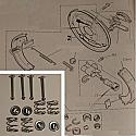 REAR BRAKE SHOE FITTING KIT (Ford Capri Mk2) (1600XL, 1600GT, 2000GT) (Mar 74- 75 Only)