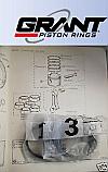 PISTON RINGS SET +20 (MG TC, TD & TF) (1250cc) (1945- 54 Only)