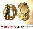 FRONT BRAKE CALIPERS x2 (Triumph GT6) (Mk3 Late) (** METRIC **) (** From Jan 1972- 74 **)